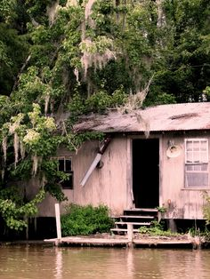 Gone... (New Orleans in the Bayou, this is one of many abandoned swamp houses.)