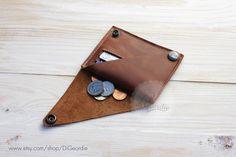Coin pocket wallet leather wallet woman slim wallet by DiGeordie