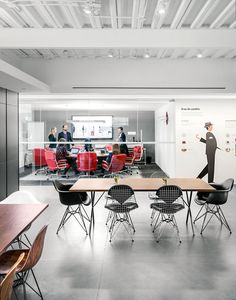 Herman Miller, Mexico City #Eames wire chairs and #Eames Executive Chairs