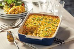 Try a delicious Cheddar Corn Casserole recipe from Del Monte. Quick, easy instructions make this Cheddar Corn Casserole recipe a breeze. Ham Casserole, Greenbean Casserole Recipe, Casserole Recipes, Quinoa Curry, Good Food, Yummy Food, Recipe Instructions, Pasta, Food Dishes