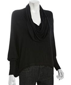 Wyatt black jersey cowl neck inspired by #AliciaKeys. Shop #DMLooks at DivaMall.tv