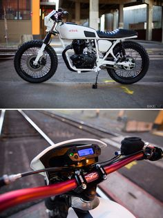 Most builders dread dealing with the electrics on a bike. But not Joe Tessitore of Portland-based Digital Directiv, a mad scientist operation focused on bringing vintage bikes up to date with modern electrical technology. This is Joe's first build since setting up shop on his own: a slick Honda CJ360T.