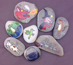 All Things Crafty: Story Stones Room on the Broom
