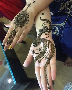 Rajasthani Flower Mehndi Designs For Hands Step By Step. rajhastani mehndi designs are very fa. Mehndi Designs 2018, Unique Mehndi Designs, Wedding Mehndi Designs, Beautiful Mehndi Design, Arabic Mehndi Designs, Mehndi Patterns, Mehndi Designs For Hands, Henna Tattoo Designs, Mehandi Designs