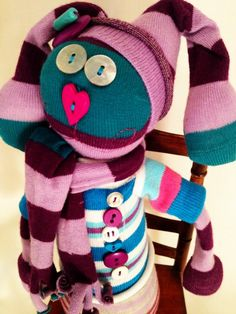 Sock Friend, Frieda (In Stock and Ready to Ship). $25.00, via Etsy.