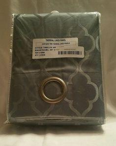 Easy Care Fabrics Thermal Grommet Room Darkening Panels Curtains 40x95 Set of 2 | eBay