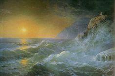 Aivazovsky Ivan Konstantinovich ( 1817-1900 ) \\ Napoleon on the island of St. Helena