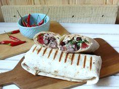 Szybkie wrapy z tuńczykiem i fasolą