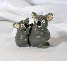 Koala salt & pepper shakers have these Salt N Pepper, Salt Pepper Shakers, Egg Cups, Kitchen Collection, Keepsakes, All Art, Little Girls, Collections, Australia