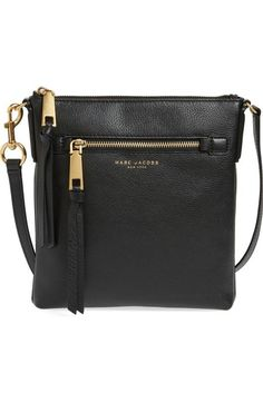 MARC JACOBS Recruit Leather Crossbody Bag. #marcjacobs #bags #shoulder bags #leather #crossbody #