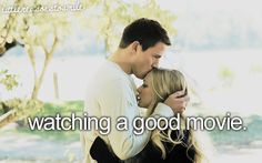 "watching a good movie. P.S. Not ""dear john"" :p"
