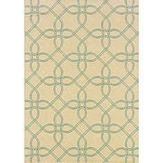 Geometric Ivory/ Blue Outdoor Area Rug (7'10 x 10'10) - Overstock™ Shopping - Great Deals on Style Haven 7x9 - 10x14 Rugs