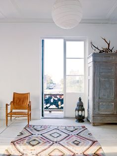 kelim and eclectic Scandi style
