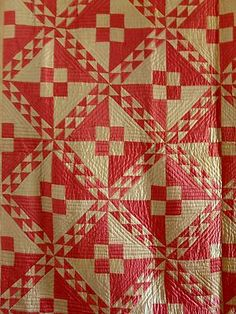 two color quilt. I like the quilting, too.