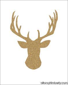 Free Christmas Printables: Glitter Silhouettes | allonsykimberly.com