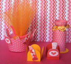 »Shape 16: Party at the Spa by Karin Arruda - Silhouette Brazil lipstick nail polish basket cupcake treat holder cylinder box
