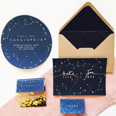 Constellations wedding stationery.