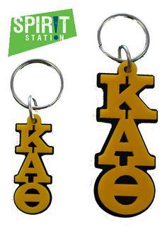 kappa alpha theta acrylic letter keychain