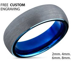 Hey, I found this really awesome Etsy listing at https://www.etsy.com/listing/260276833/tungsten-ring-mens-blue-wedding-band