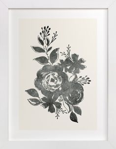 Dark Florals no. 1 by Alethea and Ruth at minted.com