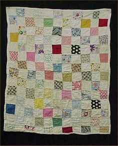 Vintage Antique Baby Doll Quilt 1930s Era Hand Quilted Feedsack 22x28 Inch | eBay, effies1
