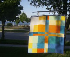 Sun and Sky quilt by lollybix