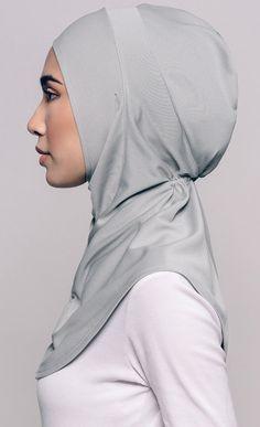 Najwaa Sport Fit Hijab in Grey   FashionValet