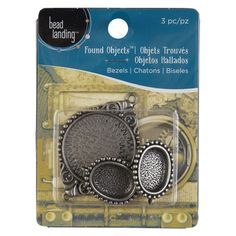 <div>This unique set of antique silver bezel, pendant and charm will be fantastic additions to y...
