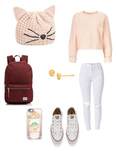 """""""Autumn has arrived (I know I'm late)"""" by flawless90 ❤ liked on Polyvore featuring Karl Lagerfeld, Herschel Supply Co., Gorjana, Converse, Miss Selfridge, Casetify, men's fashion and menswear"""