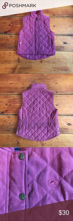 Equestrian Quilted Vest Great condition purple riding vest. Size S. Jackets & Coats Vests