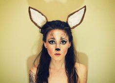 Oh Deer (by KatieMaeDickinson) Sneak peek of my Halloween costume (minus all the clothing, obviously). Deer Halloween Makeup, Best Diy Halloween Costumes, Deer Makeup, Animal Makeup, Fete Halloween, Halloween 2013, Holidays Halloween, Halloween Make Up, Fox Makeup