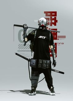 Mode Cyberpunk, Cyberpunk Aesthetic, Cyberpunk Fashion, Steampunk Fashion, Gothic Fashion, Character Concept, Character Art, Concept Art, Urban Samurai
