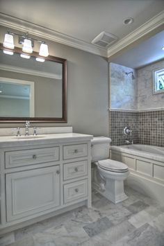 Bathroom Remodel Gray Tile fresh new beach baths | marble floor, carrara marble and carrara