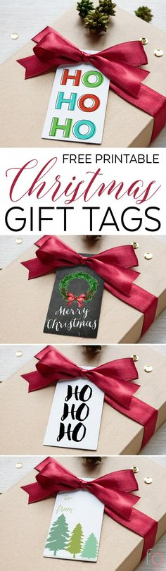 4 Free Printable Christmas Tags - These free printable gift tags are a fun and free way to jazz up your gifts this season!