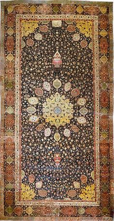 The Ardabil Carpet, probably the finest surviving Persian carpet, Tabriz, mid-16th century