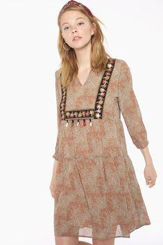 Vestido de gasa estampado floral Boho Chic, Boutique, Summer Dresses, Floral, Fashion, Summer Outfit, Clothing, Moda, Summer Sundresses