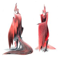 Phoenix Harpies by Junyi Wu, via Behance
