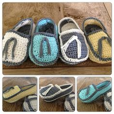 Annoo's Crochet World: Baby Loafers Free Pattern.  I don't care for the tassel.