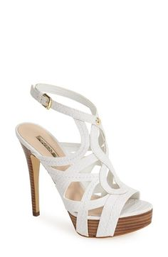 GUESS 'Kaesy' Cutout Leather Platform Sandal (Women) available at #Nordstrom