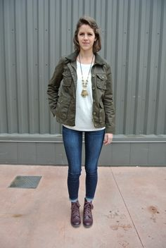 WHAT TO WEAR: Weekend Wear | Meagan French for @cfashionista #militarytrend #boots #americaneagle
