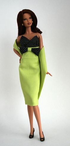Lime Green Dress by Chic Barbie Designs on Etsy.