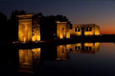 Maravillosa fotografía del Templo de Debod en Madrid