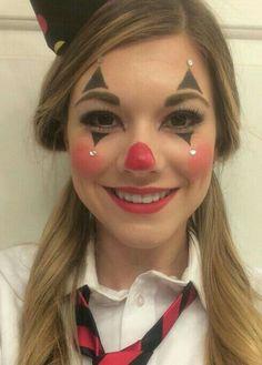Söta Clown Makeup Craft Ideas 2018 Fasching 2019 - Lilly is Love Cute Clown Makeup, Circus Makeup, Mime Makeup, Carnival Makeup, Costume Makeup, Maquillage Halloween Clown, Halloween Makeup Clown, Diy Halloween, Halloween Parties