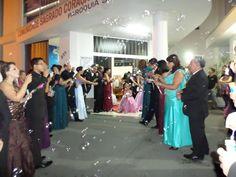 Eventos realizados, saída dos noivos com bolinhas de sabão, ficou lindo!