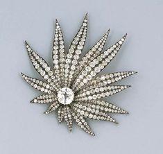 An Impressive Antique Diamond Leaf Brooch