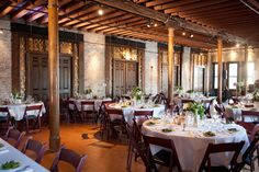 Cuvée is located on the top floor of an 1893 building in Milwaukee's historic Third Ward. This loft-style, cream city brick space always impresses. Photo by Little Giant Photography.