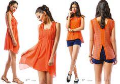 """Modelo Esquerda: Vestido (ref.: VTV1648)  Modelo Direita: Blusa (ref.: BLV1659) Calção marca """"Lois"""""""