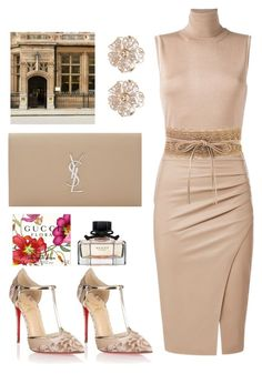 Untitled #102 by la-chile on Polyvore featuring polyvore, fashion, style, Lanvin, Christian Louboutin, Yves Saint Laurent, River Island and clothing