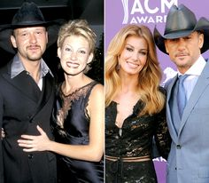 """Faith Hill and Tim McGraw  .Sparks flew when Hill opened up for McGraw on his Spontaneous Combustion tour in 1995. The country singers got hitched in Rayville, La., on Oct. 6, 1996. """"I've got to be one of the luckiest guys in the world,"""" McGraw told USA Today. """"She's incredible, one of the most down-to-earth people I've ever met in my life."""" The musicians are parents to three girls: Gracie (born May 1997), Maggie (born August 1998), Audrey (born December 2001)."""
