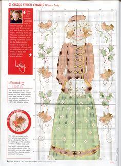 Schema punto croce Winter Lady 02
